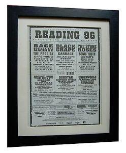READING-FESTIVAL-ORIGINAL-1996-ROCK-POSTER-AD-FRAMED-FAST-GLOBAL-SHIP-TICKETS