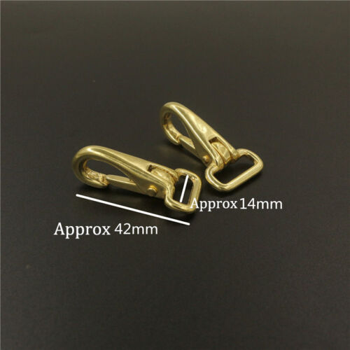 4piece Solid Brass Halter Neck Spring Hook Button Buckle Pet Rope Clip Leather