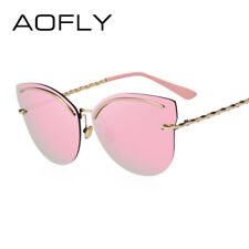 d1c00380c1 AOFLY Rimless Sunglasses Women Pink Mirror Reflective Sun Glasses Alloy  Legs Ele