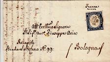 SARDEGNA-20c (15C)-Lettera Lugo->Bologna 29.3.1860