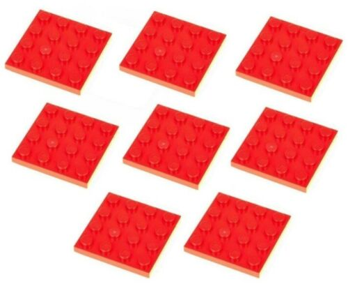 3031 Lego 8x Red Plate 4x4 NEW!!!