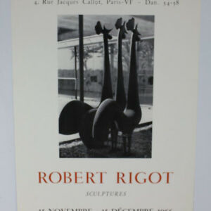 Robert-Rigot-Sculptures-1966-Plakat-Ausstellung-1966-Paris-Galerie-BernierPoster