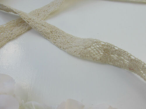 Ivory crème fleur rose dentelle bandeau cheveux couronne bandeau boho guirlande vtg V98