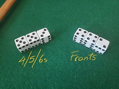 **NEW** loaded BICYCLE trick gaffed dice weighted 1-3-5//3-5 passers PLUS FRONTS