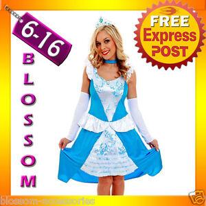 G19 Ladies Princess Cinderella Fancy Dress Up Party Fairytale Halloween Costume