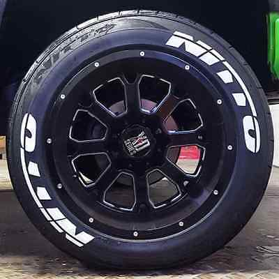 Nitto Tires With White Lettering >> Nitto Tire Lettering Kit 1 25 For 14 15 16 Wheels 4 Stickers White Ebay