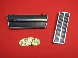 Classic Headquarters Corvette Clutch Brake /& Gas Pedal Pad Set W//Stainless Steel Trim