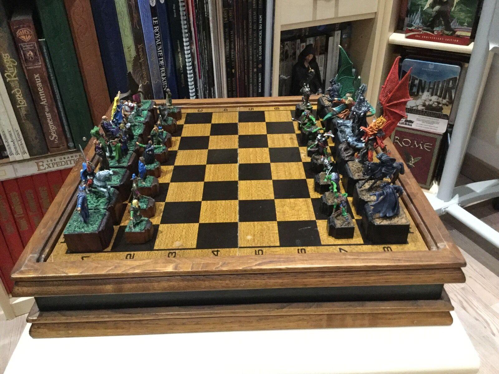 Jeu Jeu Jeu D'Échec UNIQUE Seigneur Des Anneaux Mithril Chess Set Lord Of The Rings a5e922