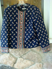 Vera Bradley woman's quilted paisley jacket -medium- lined, EUC!