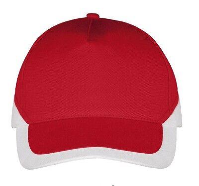 Rot Weiß Cap Vereinscap Kappe Fancap für Ultras Fans Vereine Trikot Hoodie