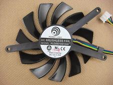 75mm EVGA Geforce GTX460 2WIN GTX560 TI Fan Replacement 4Pin PLD08010S12HH 0.35A