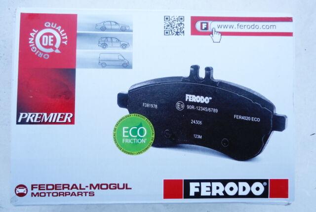Jeu de 4 plaquettes de frein arrière FERODO FDB4250 - PEUGEOT CITROËN