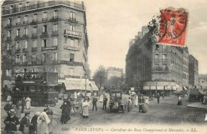 Paris-18th-Carrefour-of-Streets-Championnet-and-Marcadet