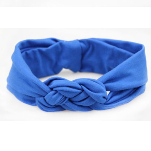 Baby Girl Cotton Turban Twist Knots Head Wrap Headbands Twisted Knotted HairBand