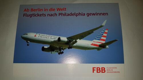 AMERICAN AIRLINES 767 Flughafen Berlin Brandenburg Airways AK Ansichtskarte