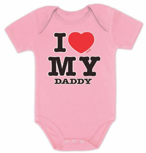 I Love My Daddy Baby Bodysuit Set BOY GIRL Mommy Shower Gift PRESENT Cute