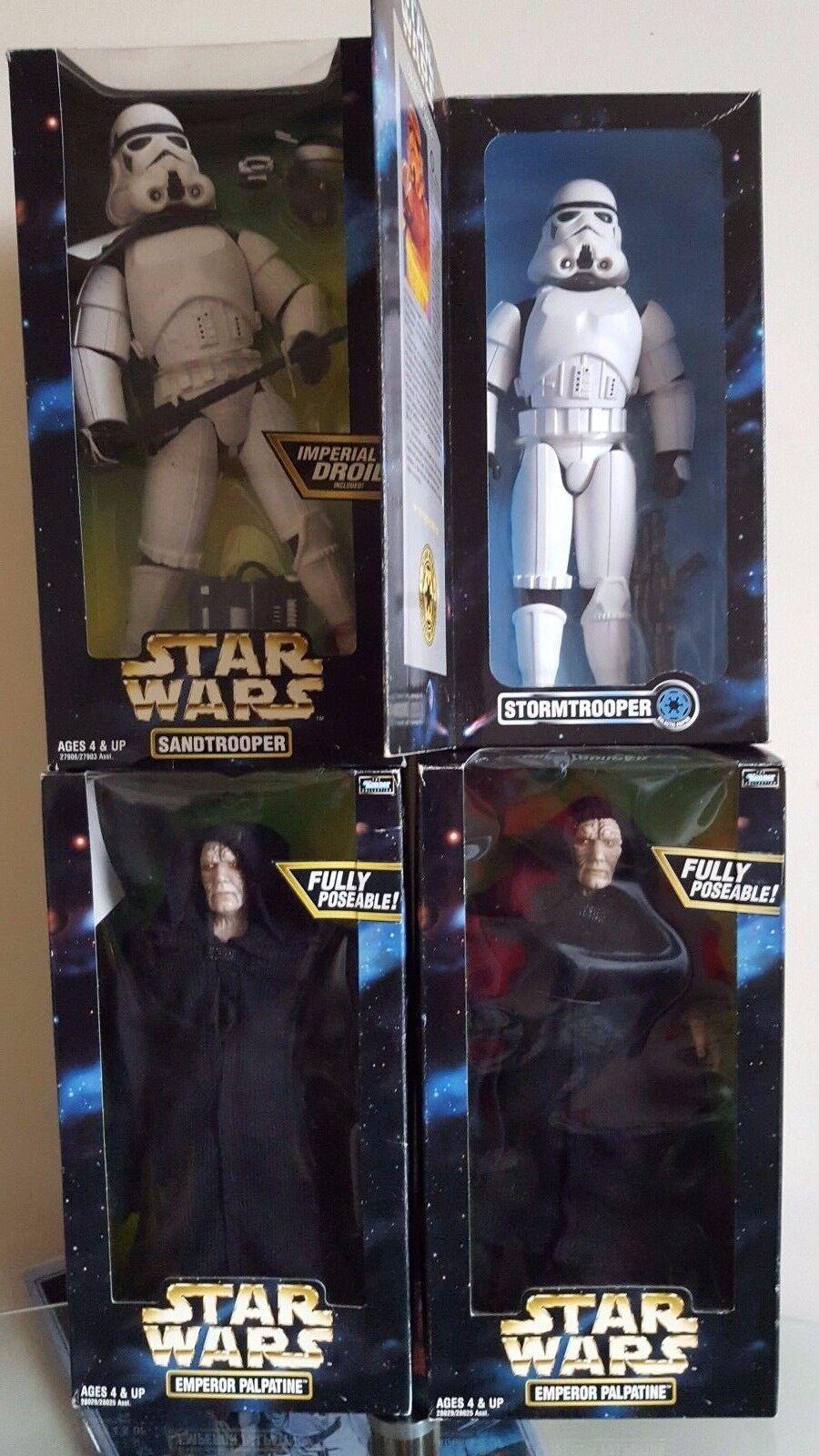 Star Wars Emperor Palpatine Sandtrooper & Stormtrooper  12  Figures  Vintage
