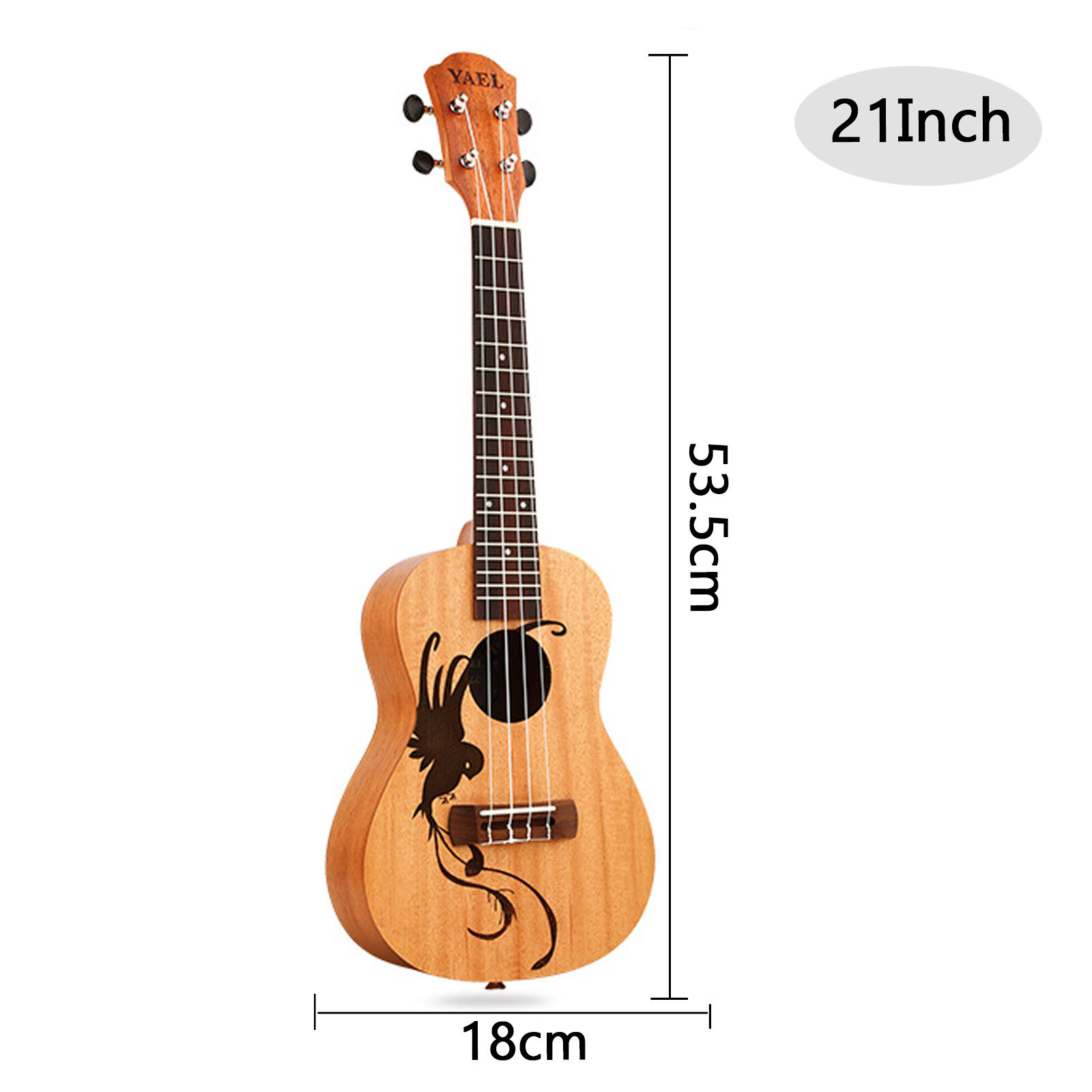 Ukelele Soprano Caoba Lucky Pájaro Pájaro Pájaro Guitarra Ukelele Uke 18 trastes 4 Cuerdas 21  23  9945e9