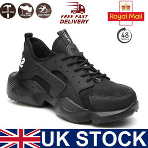 Mens Safety Shoes Lightweight Trainers Women Work Steel Toe Cap Boots UK
