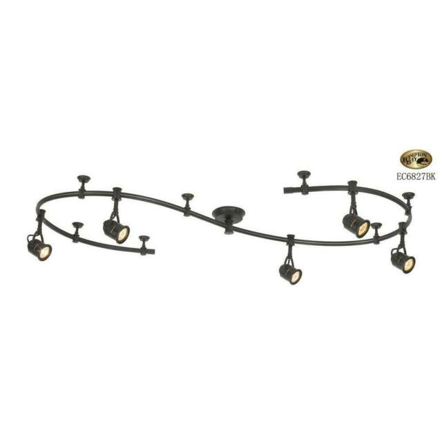 Hampton Bay 10 Ft 5 Light Flexible Track Lighting Kit Black Ec6827bk