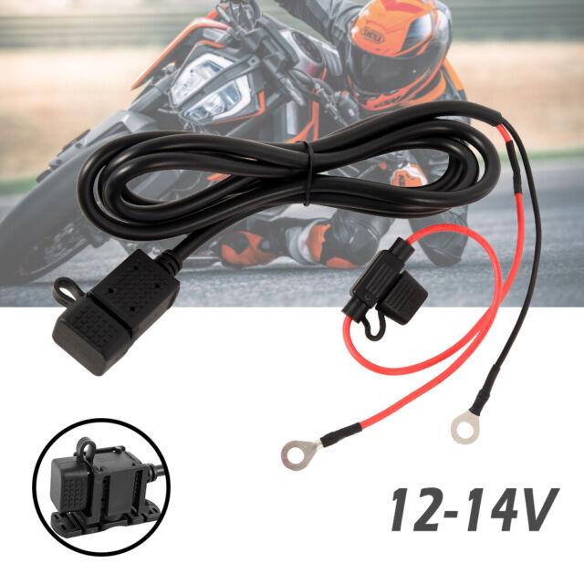 Motorrad Wasserdicht 2.1A USB Ladegerät Steckdose Buchse Power Adapter 12V-24V