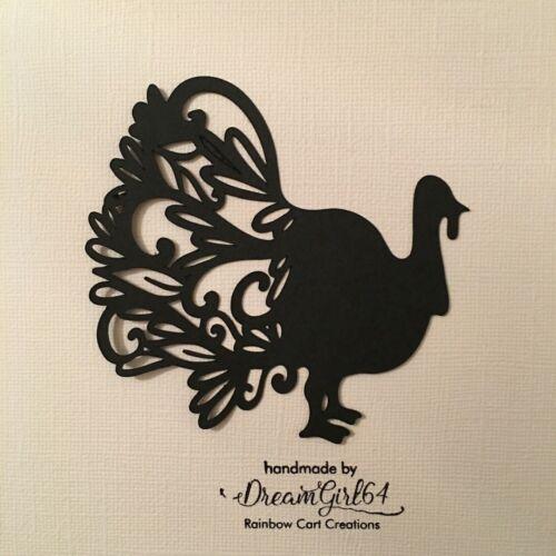6-18 Turquía elegante Die Cut Adorno recorte Álbum de Recortes Tarjetas caída de Acción de Gracias
