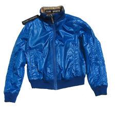 Club des Sports Italy Jacke Daunen leichte Wendejacke 122 128 blau goldbraun NEU