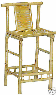 Miraculous Bamboo Tiki Bar Stools Patio Deck Or Indoor Set Of 2 682821790737 Ebay Customarchery Wood Chair Design Ideas Customarcherynet