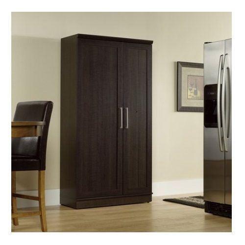 Tall Kitchen Pantry Cabinet Garage Food Storage Organizer Adjustable Shelves