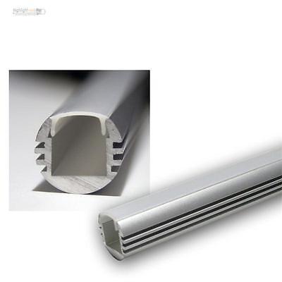 "1m LED Aluminium-Rund-Profil ""PL-Oval"", Alu eloxiert, Abdeckung OPAL, 10003250"
