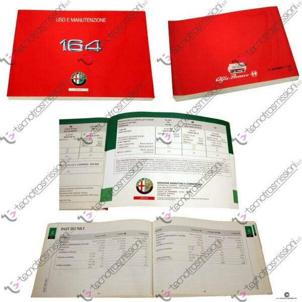 Espressive Libretto Uso E Manutenzione Alfa Romeo 164 Sku 60490685 Vincere Elogi Calorosi Dai Clienti