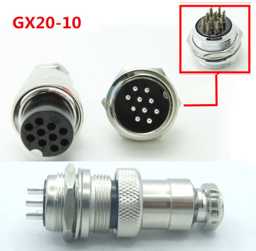Female Panel Metal Wire Connector 5Pair GX12//16//20mm Aviation Plug Socket Male