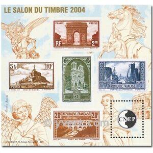 BLOC-FEUILLET-SOUVENIR-CNEP-SALON-PHILATELIQUE-D-039-AUTOMNE-DE-PARIS-2004