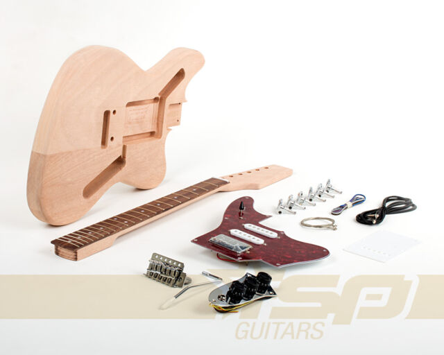 Solid Body DIY Electric Guitar Builder Kit Project with Mahogany Unfinished New