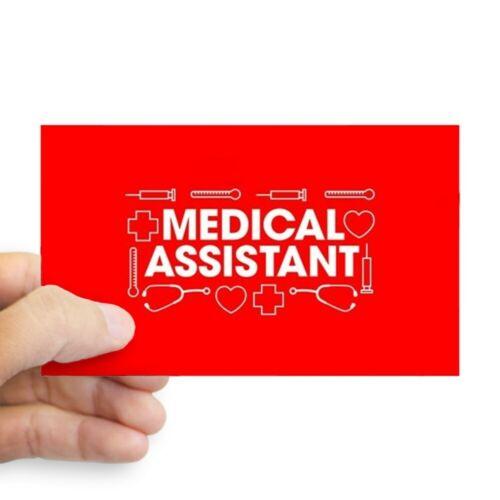 94348606 CafePress Medical Assistant Rectangle Bumper Sticker Car Decal