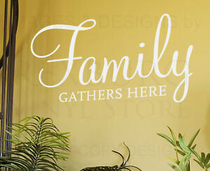 Image Is Loading Wall Decal Art Sticker Quote Vinyl Lettering Family