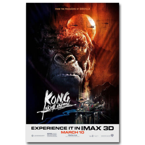 "Kong Skull Island Movie Silk Poster 13x20/"" 24x36/"" inch 003"