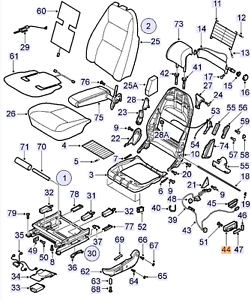 schalter elektrische sitzverstellung saab 9 3 i 98 03 seat adjustment motor ebay. Black Bedroom Furniture Sets. Home Design Ideas