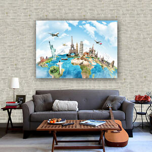 Fabric canvas poster vintage travel drawing world map bar cafe wall image is loading fabric canvas poster vintage travel drawing world map gumiabroncs Choice Image