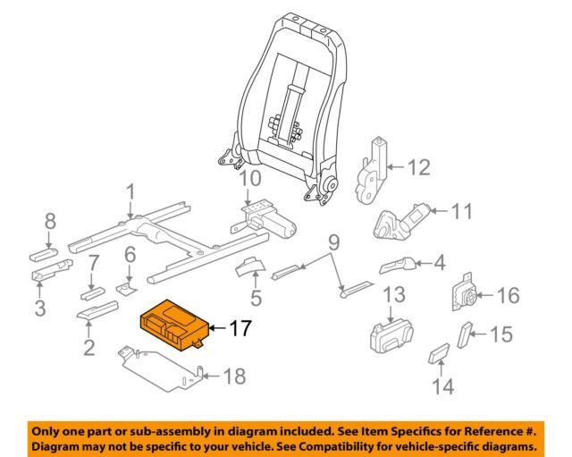 Audi Oem Q7 Seat Ecm Pcm Ecu Engine Control Module Computer 4l0959760
