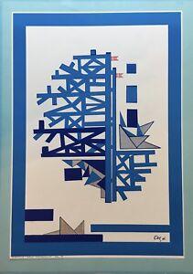Composition-Scandinavian-Type-1984-Handcoloured-Probedruck-Denmark