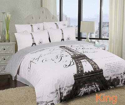 Single/Double/Queen/King Eiffel Tower Paris Quilt/Duvet Cover Set-Parisienne