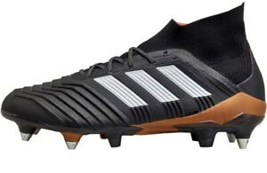 Adidas-Homme-Predator-18-1-SG-Soft-Ground-Core-controle-Peau-Noir-Taille-UK-6
