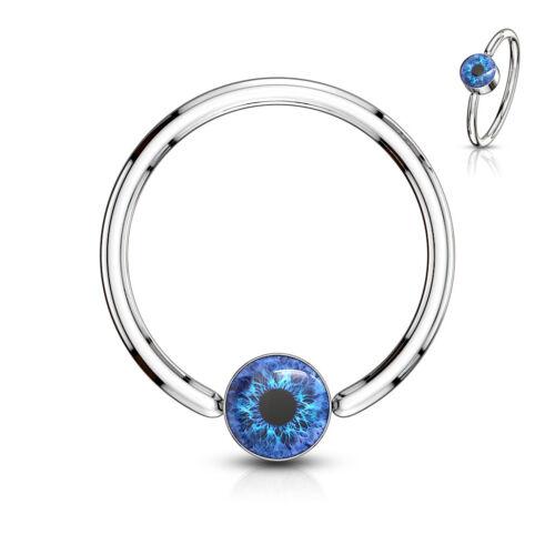 Nipple Ring 1pc Eyeball Flat Cylinder Surgical Steel Captive Bead Cartilage