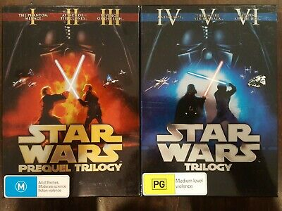 STAR WARS ORIGINAL TRILOGY DVD THEATRICAL VERSIONS EPISODE 1 2 3 & 4 5 6  BOX SET   eBay