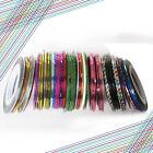 10X Colors Rolls Beauty Striping Tape Line Nail Sticker DIY Kit Art UV Gel Tip