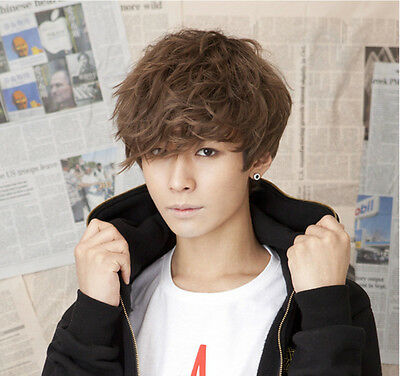 Hot style! Handsome Boys Wig Korean Fashion Short Men Hair Cosplay Wigs