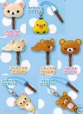 KORO Rilakkuma Relax Bear Earphone Jack for Phone (set 7 pcs) iPhone Android