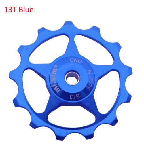 MTB Road 13T 2pcs CNC Aluminum Alloy Derailleur Jockey Wheel for Shimano Blue
