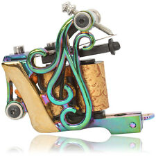 Low-carbon Steel Hand Assembled Colorful 10 Wrap Coils Tattoo Machine Gun